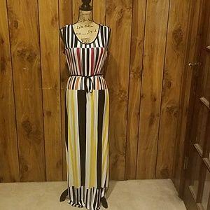 Multi Color Long Maxi Dress